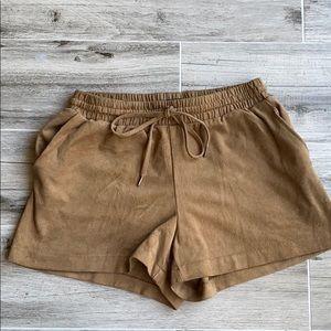 H&M faux suede shorts
